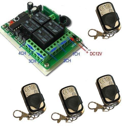 Yet-Rcepteur-4-canaux-CH-pour-ouverture-de-portails-automatiques-4-tlcommandes-pour-ouverture-automatique-de-portails-et-volets-frquence-433-MHz