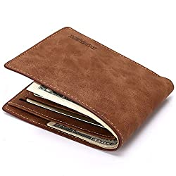 Bogesi Brown Wallet/Purse for Men Branded Slim Trendy Vintage Sylish