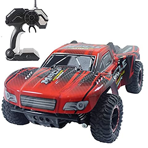 Hugine 1:16 20Km/h High Speed RC Car Off Road Vehicle 2.4G Racing Cars Rock Crawler Monster Truck Dune Buggy Extreme 4 Wheel Independent Suspension Radio Control Cars For Kids Adults Hobby Toys