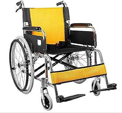 GUO De aluminio plegable envejecimiento moto, personas con discapacidad llevarán carro silla de ruedas ligera