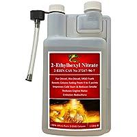 Aditivo Hydra Fuel 2 EHN, 1 litro, ultra puro > 99 %, 2 etilo hexilo nitrato, + Biodiésel + Aditivo de combustible MGO