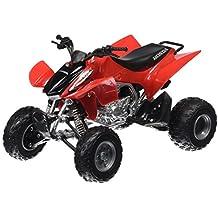 Newray 57503 - ATV Quad Honda TRX-450R, escala 1:12, color rojo