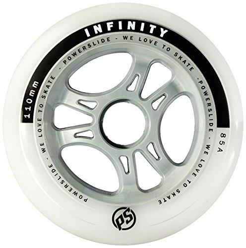 Powerslide Rollen Infinity II 4-Pack, Weiß, 110mm