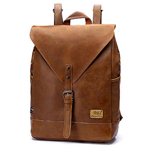 Retro PU-Leder Vintage Rucksack Wanderrucksack Hiking Backpack Damen Herren Schultertasche PU Rucksack Für Camping Reise und iPhone, iPad ...