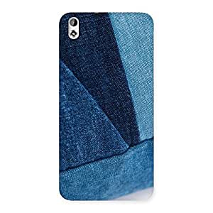 Impressive Denim V Print Back Case Cover for HTC Desire 816