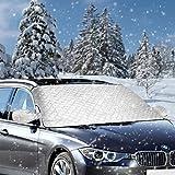 Cubierta del parabrisas del automóvil - Anti hielo Cubierta de hielo Protector del parabrisas Rayos Protector solar Ahorro de tiempo por la mañana Apto para automóviles SUV en todo tipo de clima, 183