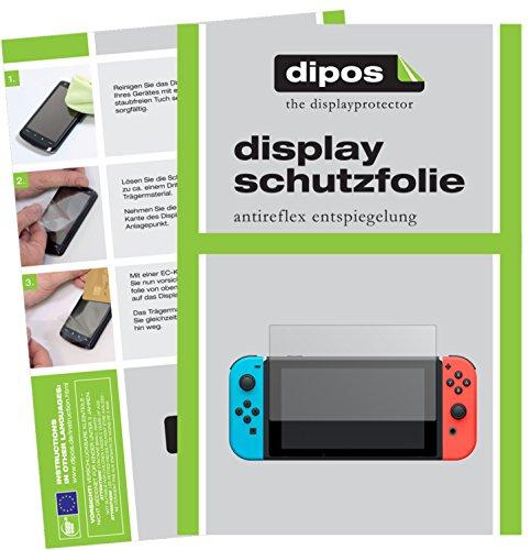 dipos I 2X Schutzfolie matt passend für Nintendo Switch Folie Displayschutzfolie