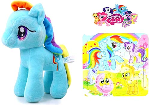 My Little Pony Plüsch , Rainbow Dash + Puzzle (Monster High My Little Pony)