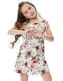 Maedchen aermllos Partykleid Ballkleid Blumen Kleid 7-8 jahre CL10487-1