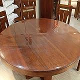 Toile-de-table-transparente-Nappe-ronde-transparente-PVC-impermable--leau-Tissu--table-ronde-Tapis-de-table-ronde-en-verre-doux-anti-chaud-Couleur-Round15mm-taille-Round90cm