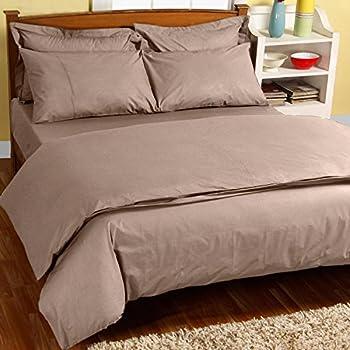 Homescapes Luxus Baumwoll Satin Bettwäsche 135x200 Cm 2 Tlg Latte Hellbraun  ägyptische Baumwolle Fadendichte 1000