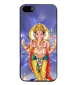 FUSON Shree Lord Ganesha Trishul Designer Back Case Cover for Apple iPhone 5