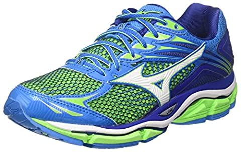 Mizuno Wave Enigma, chaussures de course homme - multicolore - Multicolore (DivaBlue/White/GreenGecko), 43 EU