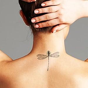 Libelle - 2 Temporäre Tattoos