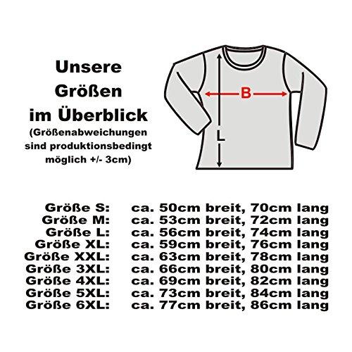 Longsleeve Eagle and Wulf, american style langarm T-Shirt Indianer Motiv mit Adler Wolf und Federschmuck, Funshirt große Größen S-6XL (AIM00135) Schwarz