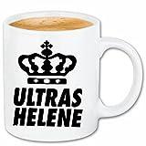 Kaffeetasse Helene Ultras Keramik Höhe 9,5cm & 8cm Durchmesser 330 ml in Weiß für jeden Liebhaber/Fan genau das richtige
