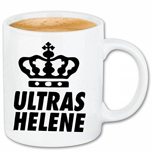 Reifen-Markt Kaffeetasse Helene Ultras Keramik Höhe 9,5cm & 8cm Durchmesser 330 ml in Weiß für jeden Liebhaber/Fan genau das richtige
