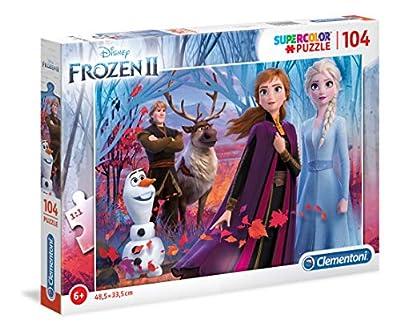 Clementoni 27274 Clementoni-27274-Supercolor Disney Frozen - Puzzle para niños (2-104 Piezas) por Clementoni