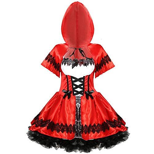 Halloween Big Size Damen'S Halloween Frauen Rollenspiel Rotkäppchen Kostüm Spiel Einheitliche, Farbe, - Big Baby Kostüm Maske