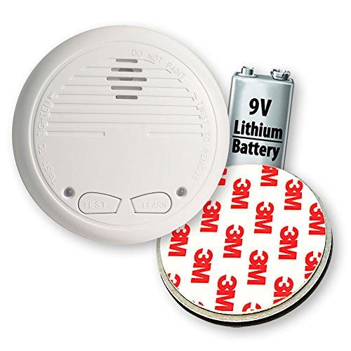 5X Nemaxx WL10 Funkrauchmelder - mit 10 Jahre Lithium Batterie Rauchmelder Feuermelder Set Funk koppelbar vernetzt - nach DIN EN 14604 + 5X Magnethalterung