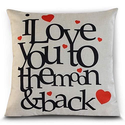 ou to The Moon and Back Home Decor Werfen Kissenbezug 45,7x 45,7cm Baumwolle Leinen-der Perfekte Muttertag Geschenk. ()