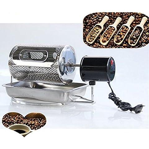 gr-tech instrumento® granos de café tostado máquina hogar Mini eléctrico de acero inoxidable tambor Tipo rotación café asador 220V