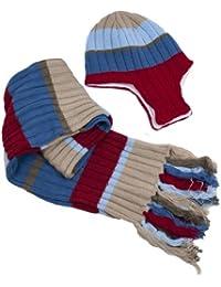 Praktisches Kinder-Set für Winter Mütze + Schal