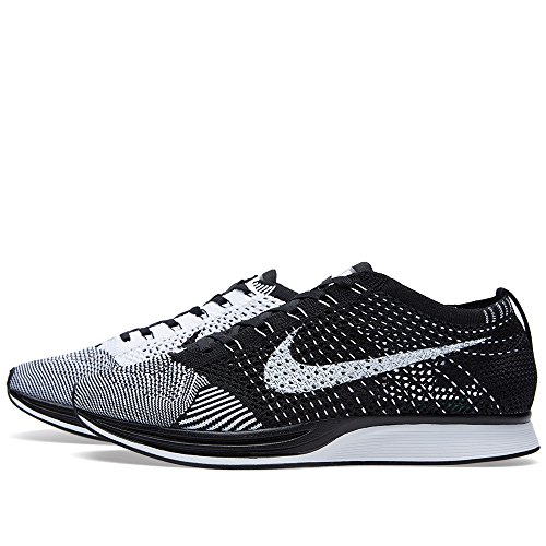 Nike Flyknit Racer, Chaussures de Running Entrainement Homme Blanco (Blanco (black/white))