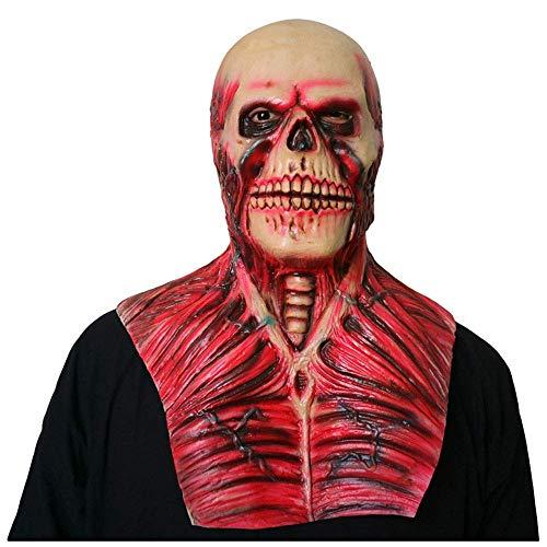 YaPin Horror Maske Kopfbedeckung Maskerade lustige Show Halloween Ghost Gesicht Blutungen Schädel Clown Scary Requisiten