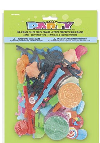 Unique Party – 8764 – Paquet de 64 Cadeaux de Fête Charge du Pinata