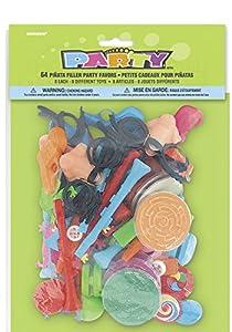 Unique Party- Paquete de 64 regalitos de relleno de piñata para fiestas (8764)