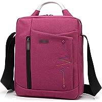 NO BRAND TEYUN Bolso de la Tableta Casual Bolsa de Hombro (Color : Red, Size : 10inch)