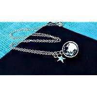 Vollmond Sterling Silber 925 kette Anhänger Halskette - Personalisiert Mond Schmuck Planet der Weltraum Weltall Universum Sternsystem Galaxis Milchstraße GESCHENKBOX
