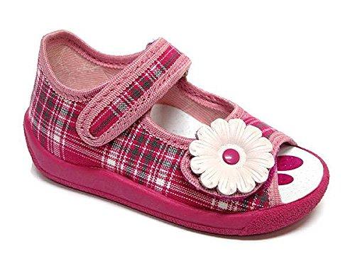 Comfort Flower 6 Eu Check Shine Lauflernschuhe Mädchen 23 Baby Rw6qdR