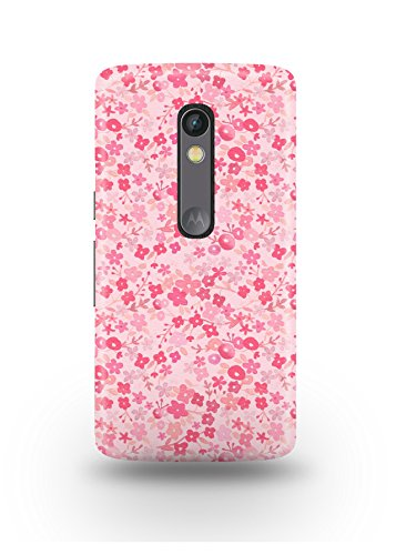Moto X Play Cover,Moto X Play Case,Moto X Play Back Cover,Soft Pink Floral Pattern Moto X Play Mobile Cover By The Shopmetro-12394