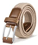 BULLIANT Cintura Uomo, Cinture Elastica Intrecciata con Fibbia in Lega di Zinco 1 3/8''
