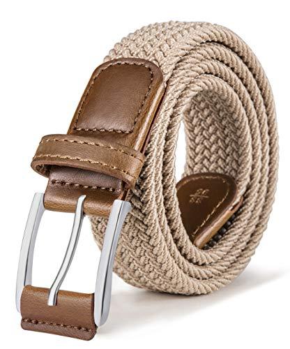 BULLIANT Cinturón Hombre, Cinturón Trenzado Elástico Tejido Extensible y Hebilla de Aleación de Zinc, Ancho 1 3/8