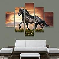 XrsArt 5 Pannello moderna Stampato grande cavallo