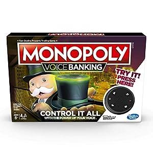 Hasbro Gaming- Monopoly Voice Banking Electrónico Juego de Mesa Familiar para Edades de 8 y más, Idioma Inglés, Multicolor (E4816)