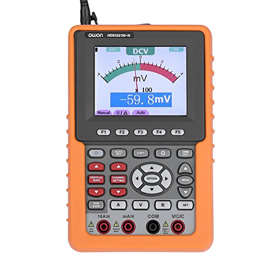 Single-channel-speicher (Owon Digital Oszilloskop Multimeter HDS1021M-N Serie HDS Handheld Speicher Oszilloskop Multimeter,Single Channel,20MHz,500MS/s Abtastrate mit Waveform Record Replay FFT Funktionen Signalaufzeichnung)