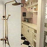 Badezimmer Dusche Wasserhahn Messing antik Einstellung Höhe Hand Dusche Badewanne Armatur Dusche an der Wand montiert