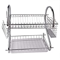 2 Layers Dish Rack Tableware Shelf Plate Cutlery Cup Rack Bowl Rack Kitchen Dish Shelf Cutlery accessories