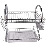 2 Layers Dish Rack Tableware Shelf Plate Cutlery Cup Rack Bowl Rack Kitchen Dish Shelf Cutlery accessories