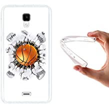WoowCase - Funda Gel Flexible [ Wiko Bloom ] Balon de Baloncesto Carcasa Case Silicona TPU Suave