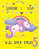 5 someone I love was born today( Diary , DIY party album): This is blank and line journal design for 5 years old birthday Diary or album