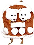 Funny Teddy Cute lightweight Hugging teddy School Bag For Kids with Exclusive 3D effect ;Use as Travelling Bags, Carry Bag, Picnic Bag, Teddy Backpack for children boy girl unisex;Perfect Birthday Gift Idea (Brown Color)