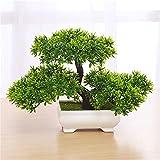 Zantec Bonsaibaum, Kunstpflanze, kein Gießen, mit Topf, für Büro, Zuhause