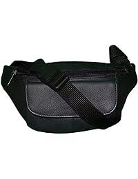 Style98 Black Genuine Leather Waist Pouch For Men,Boys,Girls & Women