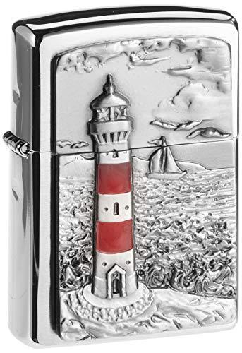 Zippo Feuerzeug 2001670 Lighthouse Emblem Benzinfeuerzeug, Messing