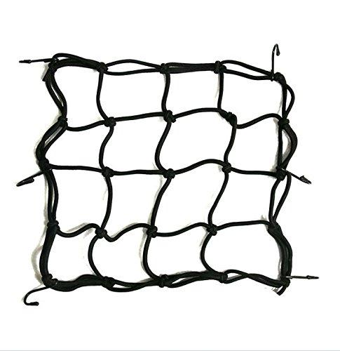 westeng Motorrad Helm Cargo Net mit 6Haken Nylon Gepäck Net Schwarz (Helm Net)